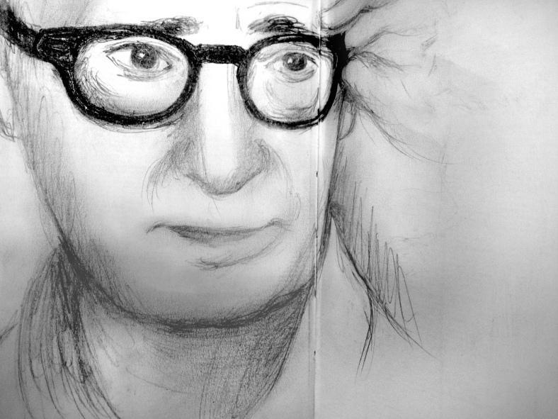 Woody Allen at 92Y sketch 1