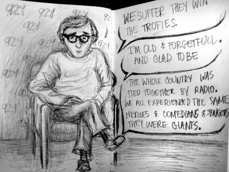 Woody Allen at 92Y sketch 2